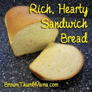 This is a rich, hearty bread that will stand up to whatever you can pile on it–from lunchmeat to PB&J and beyond. Plus it costs only 36c a loaf to make!