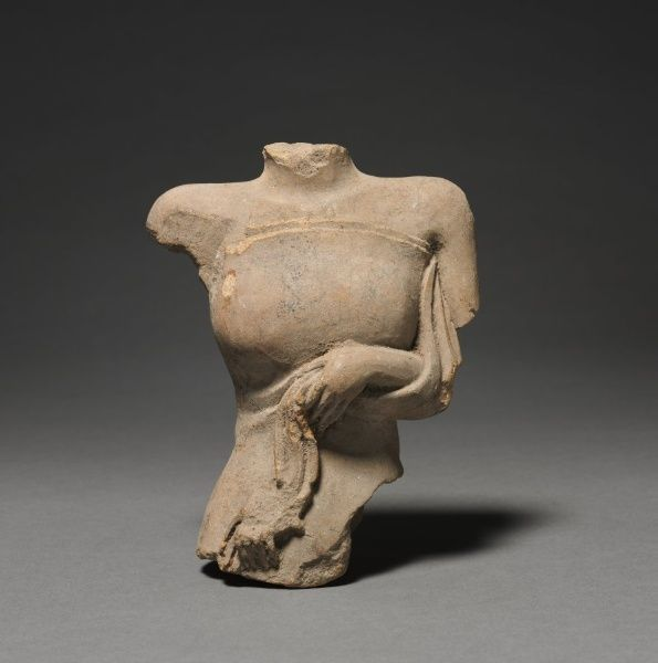 Female Torso, Majapahit Dynasty (1293-1478) Eastern Java, Majapahit Dynasty (1293-1478)  terracotta