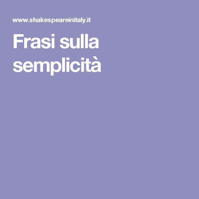 Frasi sulla semplicità