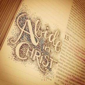 I love seeing Bible journaling like this where the words are only outlined, they really pop!