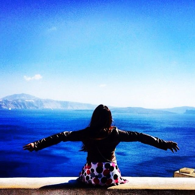 Any better view than the blue of the #AegeaSea? #VarietyCruises #Travel #Greece Photo credits: @aonvarisa