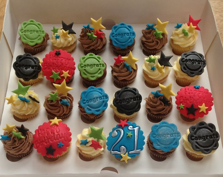 Mini 21st birthday cupcakes cupcakes