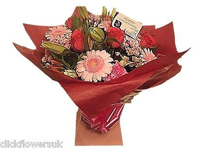 Fresh flowers delivered uk sensational #perfectly pink florist #selection #bouque,  View more on the LINK: http://www.zeppy.io/product/gb/2/221958239251/