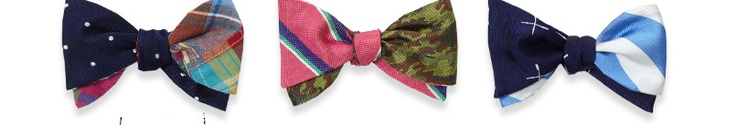 Social Primer for Brooks Brothers reversible bow ties