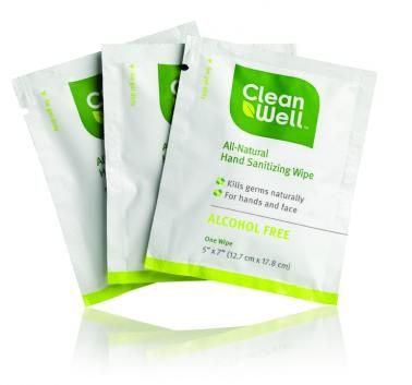 CleanWell Natural Hand Sanitizer Wipes
