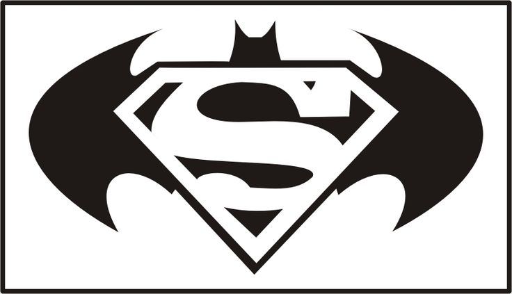 Free download Batman Superman Logo Clipart for your creation.