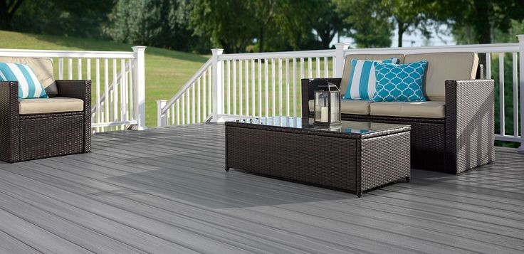 Fiberon Paramount in Flagstone Paramount combines all the advantages of cellular decking with a highly resilient surface for lasting durability. http://www.fiberondecking.com/products/paramountDecking