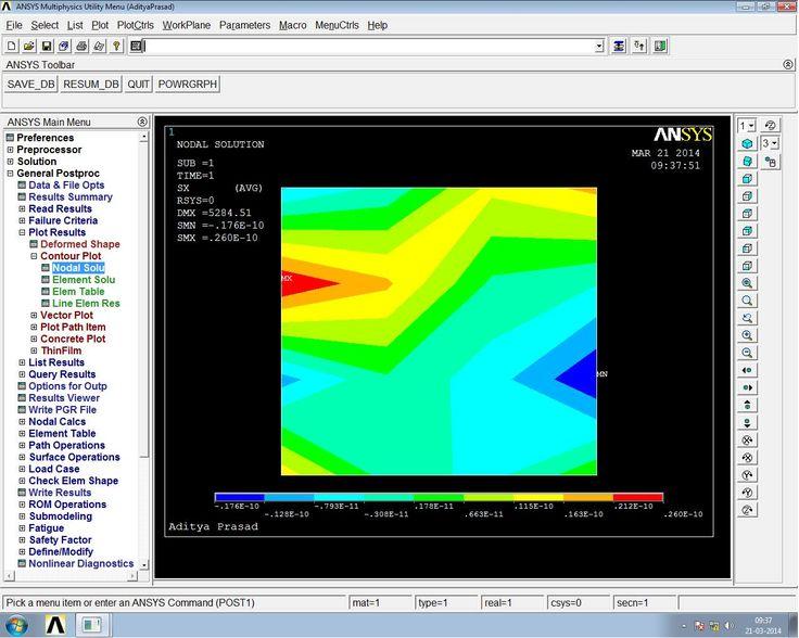 ANSYS shear stress analysis