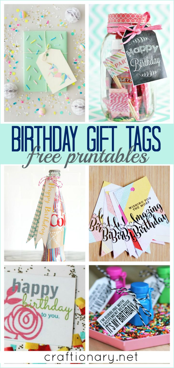 Find handmade and custom birthday gift tags printables that are creative and fun to add to a beautiful gift for kids, friends, family, neighbours and more.