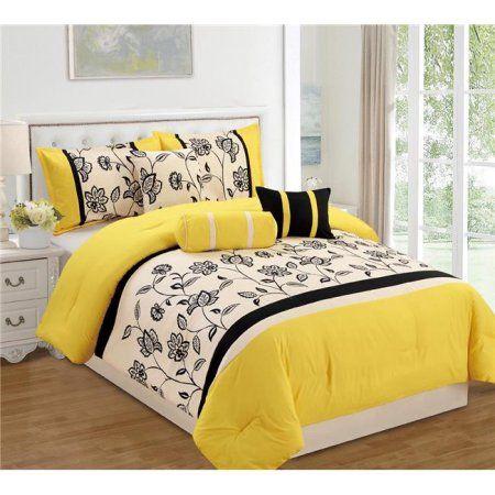 Lacina Luxury Piece Comforter Set King, Multicolor