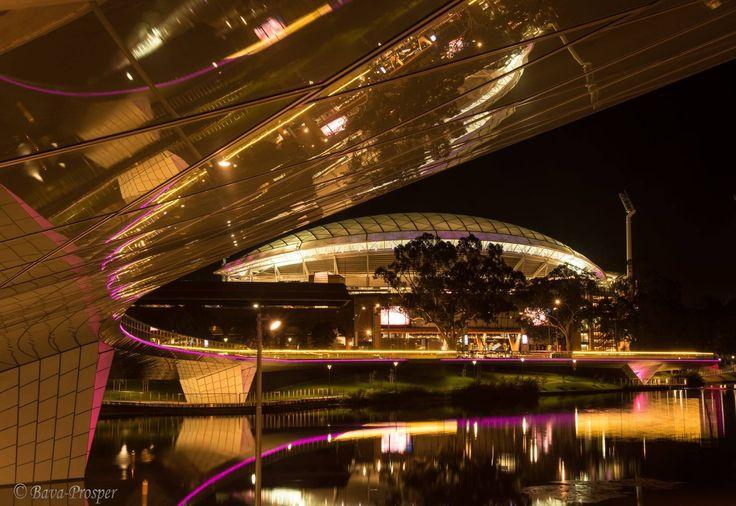 Adelaide Festival Centre from the new footbridge over the Torrens River