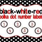 Cute black, white and red polka dot Number Labels for your classroom! 1-36  Just print, cut and laminate.   Please leave feedback. :)  Enjoy!...