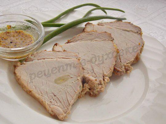 рецепт мясо с горчицей, сметаной и мёдом