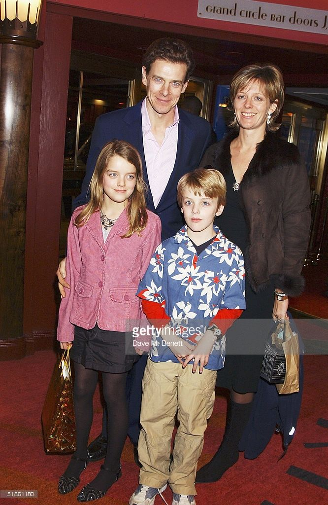 (EMBARGOED FOR PUBLICATION IN UK TABLOID NEWSPAPERS UNTIL 48 HOURS AFTER CREATE DATE AND TIME)  James Ogilvy, Julia Rawlinson and their children Flora and Alexander  attend the 'Mary Poppins'  Gala Preview in aid of 'Over the wall'Charity, ahead of tomorrow's press night at the Prince Edward Theatre on December 14, 2004 in London. (Photo by Dave Benett/Getty Images)