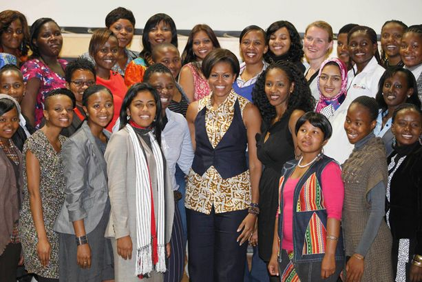 All Over the World - It's not just American women that Mrs. Obama inspires.  It's women all over the world, like the young women she met at the Apartheid Museum in Jahannesburg, South Africa in June 2011.