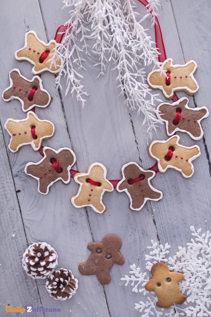 Divertitevi a realizzare il festone di pan di zenzero (gingerbread man garland) con i vostri bambini per ricreare una perfetta atmosfera natalizia! #ricetta #GialloZafferano #Natale #Christmas #homemade http://speciali.giallozafferano.it/decorazioni-speciali
