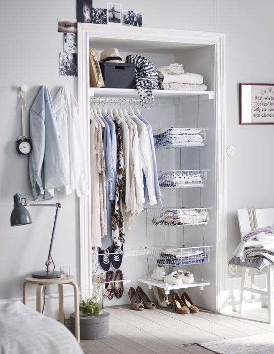 ALGOT systeem | #IKEA #opberger #garderobe #kledingkast #kast #slaapkamer