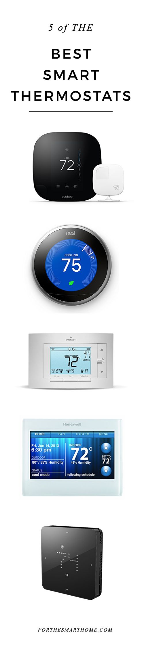 One of the cornerstones of smart home automation is the ability to intelligently control the temperature in every room. Take full command over the climate of your home with our comprehensive guide to the very best smart thermostats for the interconnected interior space.