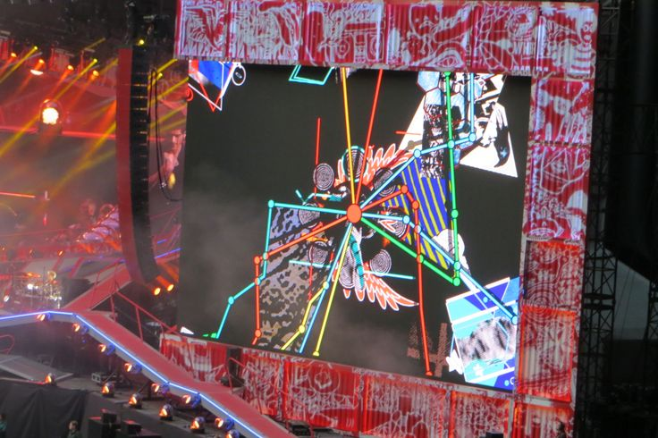 There were loads of animation clips!  1D Amsterdam Arena 25/6 via @manonneke