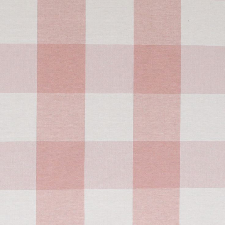 A darling, peachy-pink buffalo check with a cream contrast. Perfect for drapery, roman blinds, curtains, pillows, foam bench cushions, slipcovers or any other upholstery project. Content: 100% yard dyed cottonWidth: 54