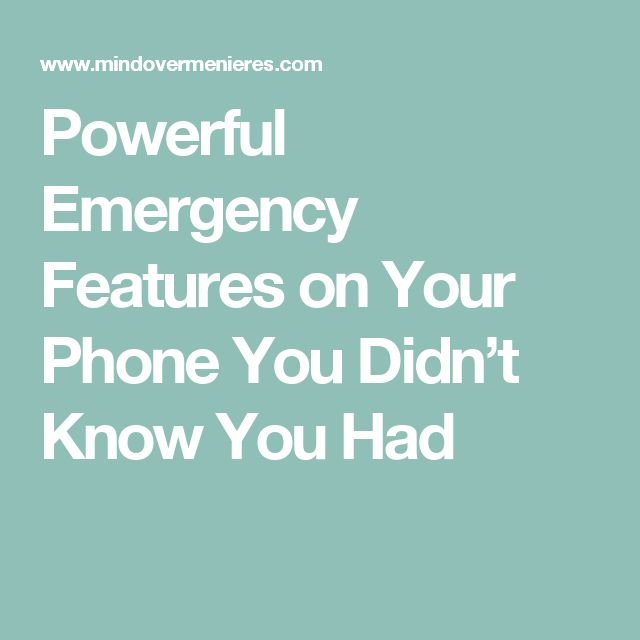 Powerful Emergency Features on Your Phone You Didn't Know You Had