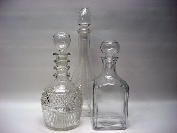 Vintage barware - swanky vintage decanters