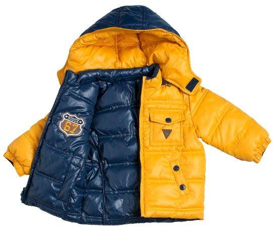 Anorak de niño reversible en azul por un lado y amarillo por otro - Abrigos, Parkas, Anoraks y Buzos para Bebé hasta los 4 Años - Mundo Kiriko
