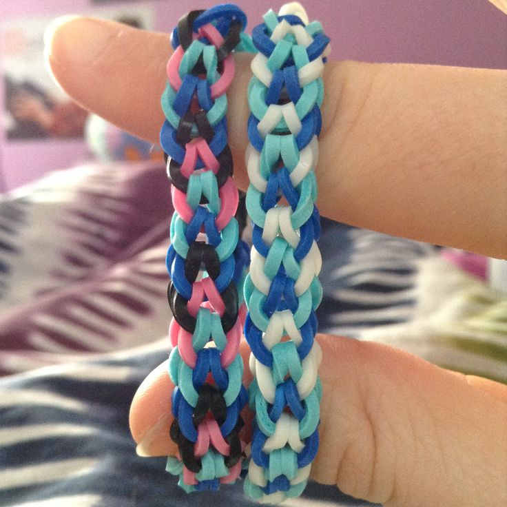 Elsa and Anna frozen rainbow loom bracelet