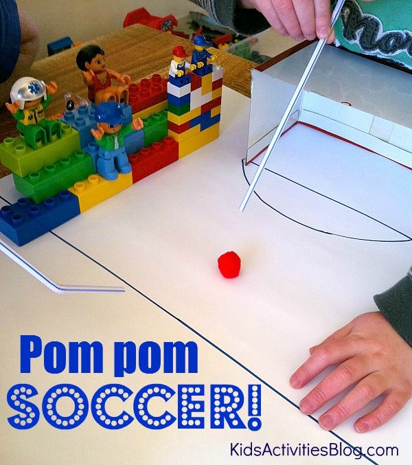 DIY Pom Pom Soccer Game