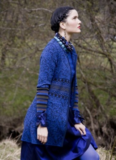 Oleana Knits from Norway. Love this cobalt colour