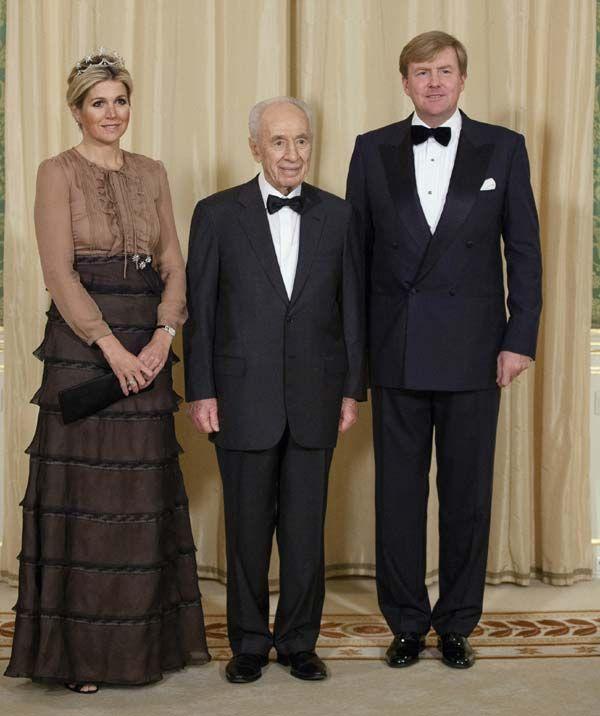 La reina Máxima llevó anoche para la cena de gala en honor al Presidente de Israel una ya célebre creación de Valentino