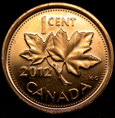 2012 CANADA One Cent CANADA'S LAST PENNY - Non-Magnetic Variety KEY DATE COIN!