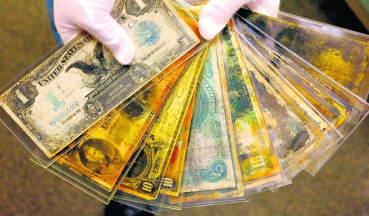 Старые деньги, поднятые с Титаника.