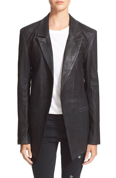 RtA 'Iggy' Lambskin Leather Blazer available at #Nordstrom