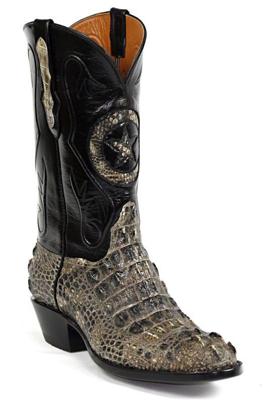 Mens Black Jack Boots Natural Hornback Alligator Custom