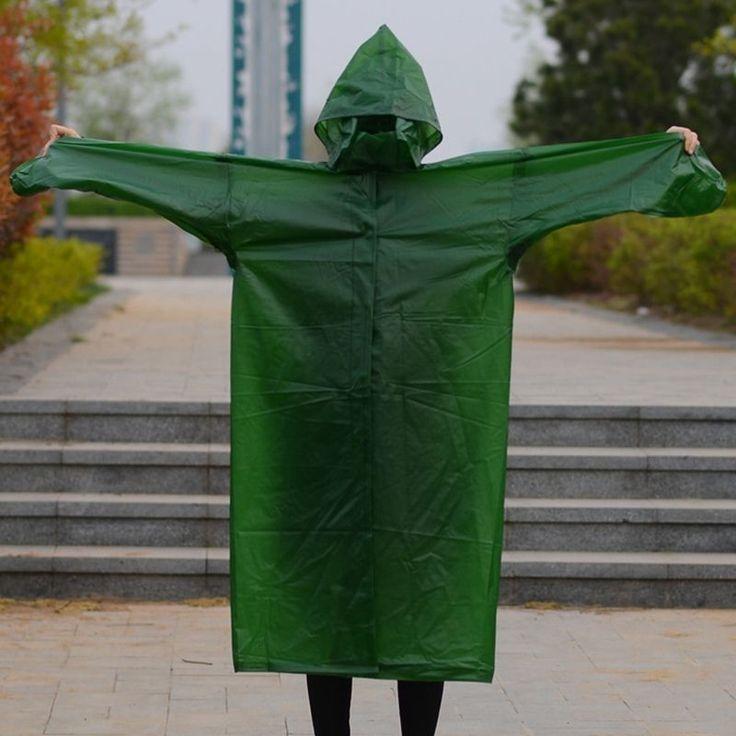 Womens Mens Raincoat Worker Rider Rainwear Pvc Rain Coat Cape Simple Set Jacket