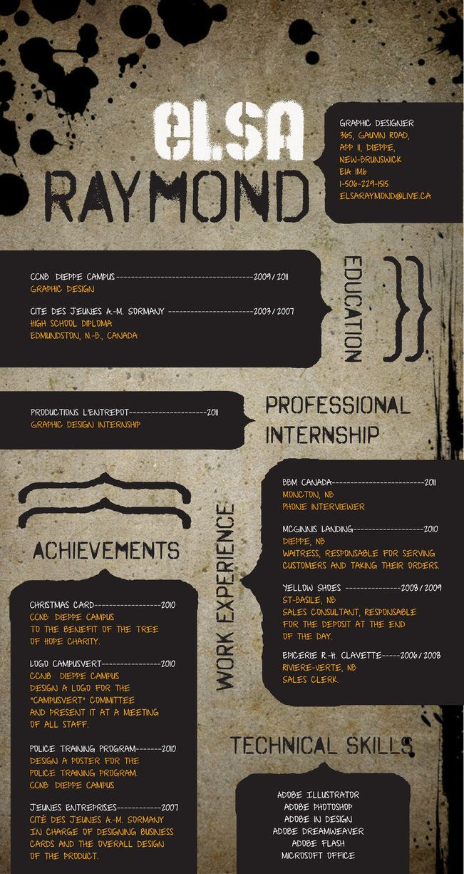 Creative Resume 56 best Resume images on