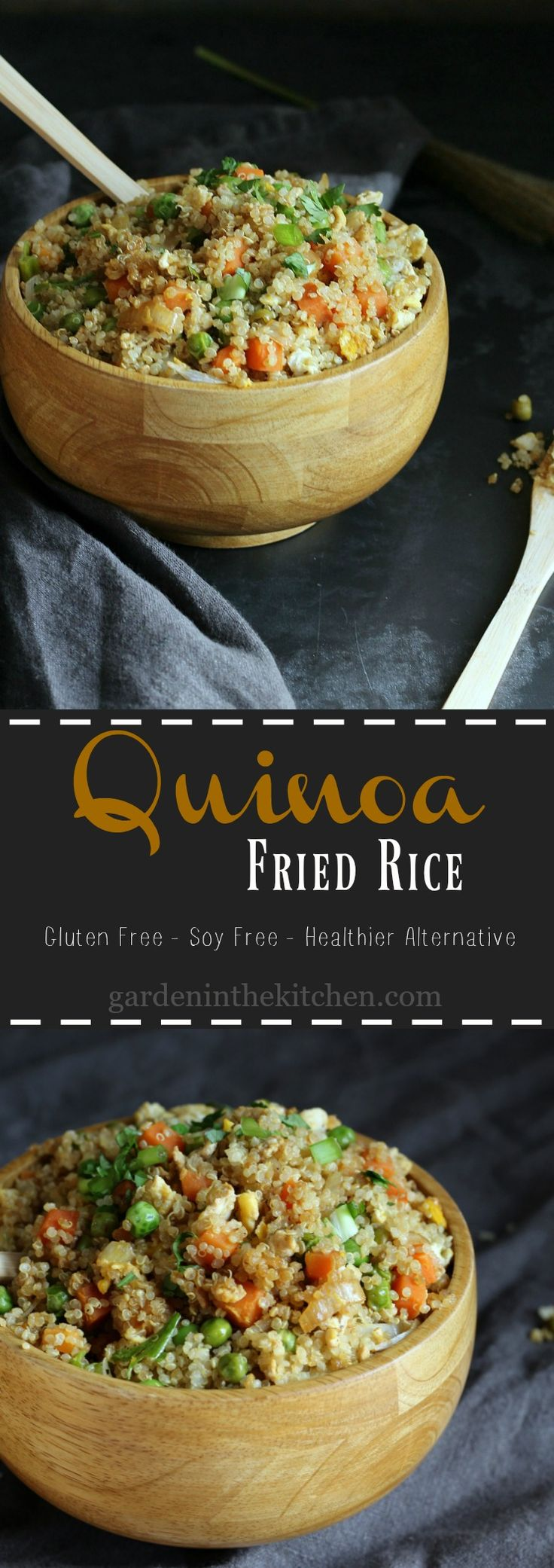 Quinoa Fried Rice (gluten-free, soy-free); a delicious and healthier alternative to the classic Chinese Fried Rice