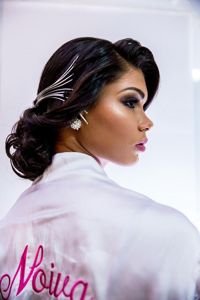 Editorial moda cabelo e acessório de cabeça de noiva no blog Ligia Nottingham. Beatriz Pimentel, produzida por Ledo Júnior, usa acessório Monica Di Creddo para Bayusha
