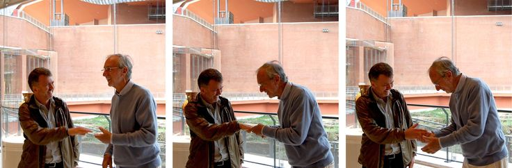 Massimo Alvisi and Renzo Piano at the Parco della Musica in Rome, Italy in May 2013.