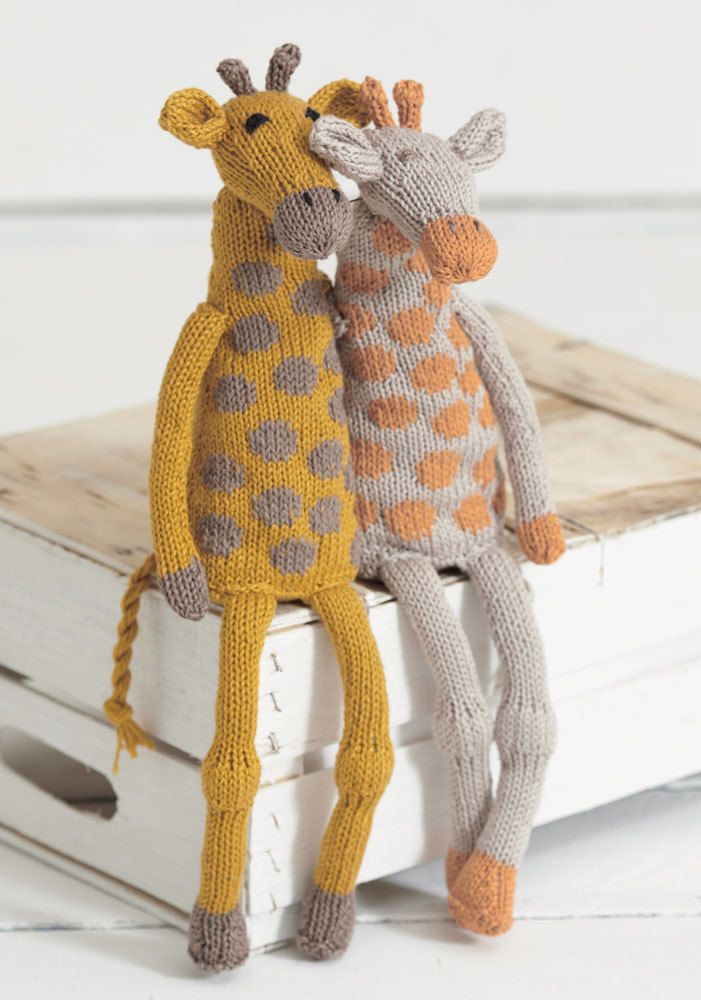 FREE pattern from Sirdar Noah's Ark collection - Giraffes made in Sirdar Cotton DK.