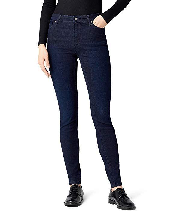 MERAKI Jean Skinny Taille Haute Femme