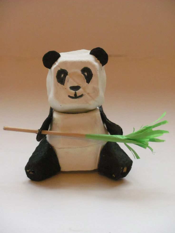 My husband's favourite so far! Peter Panda is made from egg box bits, and that's about it - apart from some paint, plasticine and a spot of ...