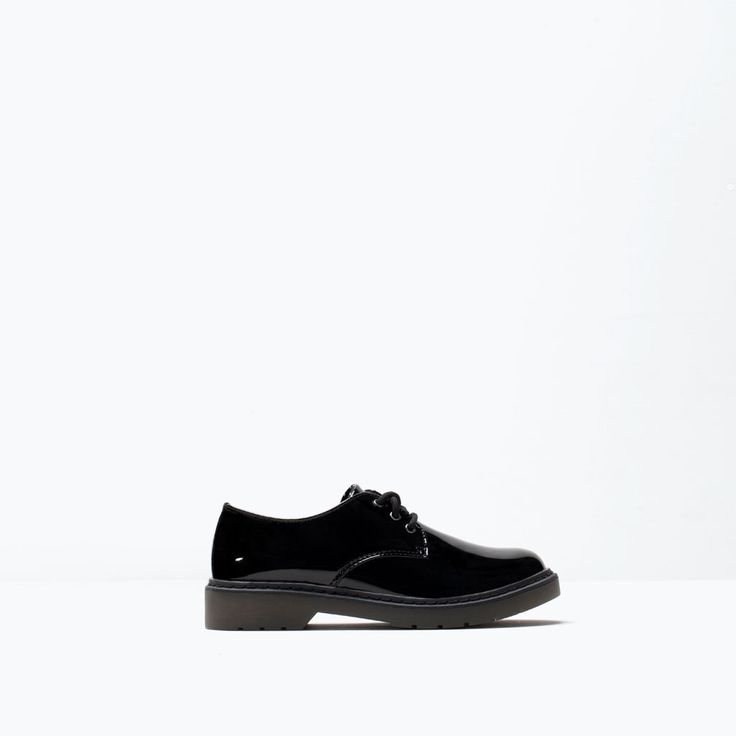 ZARA - SALE - PATENT LACE-UP SHOES