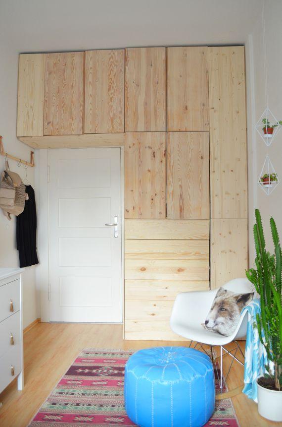 make it boho diy ikea hack kleiderschrank aus hellem holz interior ideas pinterest. Black Bedroom Furniture Sets. Home Design Ideas