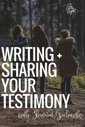 writing your testimony How to prepare your personal testimony  when writing and giving your personal testimony, there are some basic dos and don'ts which will make it more.
