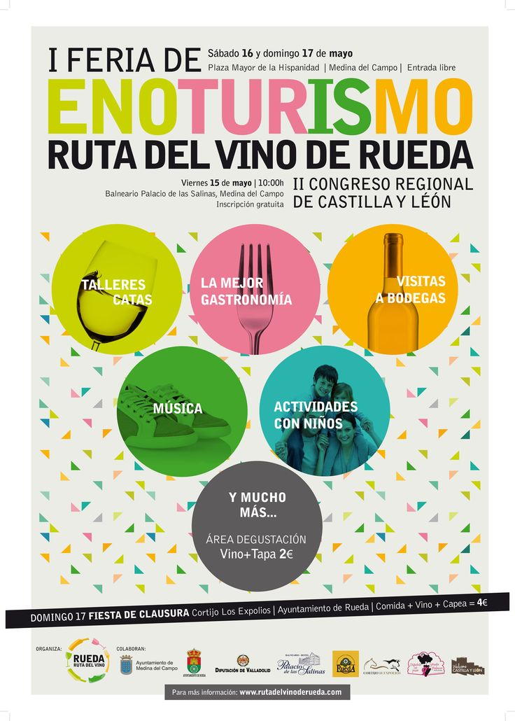 La Ruta del Vino de Rueda saca su oferta a la calle con su I Feria de Enoturismo https://www.vinetur.com/2015042119064/la-ruta-del-vino-de-rueda-saca-su-oferta-a-la-calle-con-su-i-feria-de-enoturismo.html