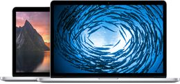 MacBook Pro - Buy MacBook Pro with Retina display - Apple Store (U.S.) I don't have the retina display, mine is about 4 years old.  My first Apple product.