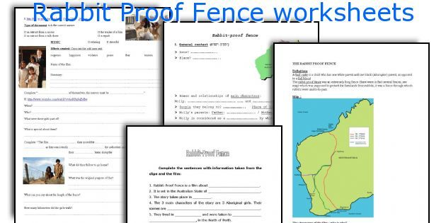Rabbit Proof Fence worksheets
