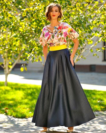 Colors of Love - Fascination Maxi Skirt  Love is the glass that makes anyone appear sweet and fascinating. But sometimes, love just comes after. <3 http://colors-of-love.ro/?s=lunga&&post_type=product&post_type=product&&paged=1